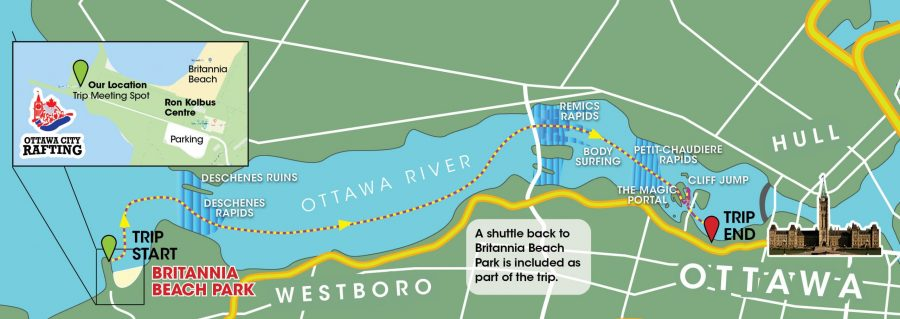Ottawa City Rafting Route