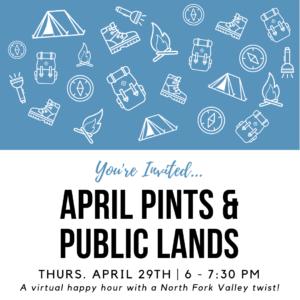 April Pints and Public Lands ad