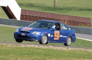 Dave and Kai, testing at Lime Rock Park