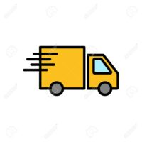 Delivery Icon isolated on white background. Fast Delivery Icon. Fast shipping delivery truck. Truck icon delivery