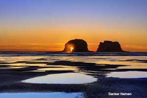Twin Rock, Rockaway Beach, OR.