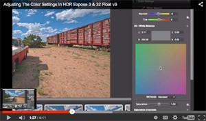 Expose Color Adjustment Screen Shot