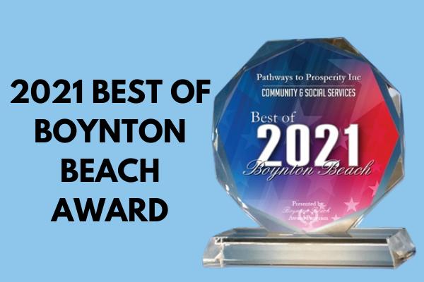 Pathways to Prosperity Inc. Receives 2021 Best of Boynton Beach Award