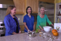Ahlea Khadro Heather Dane and Louise Hay making celery root mashed potatoes