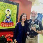 Heather Dane with David Getoff at Hay House Radio