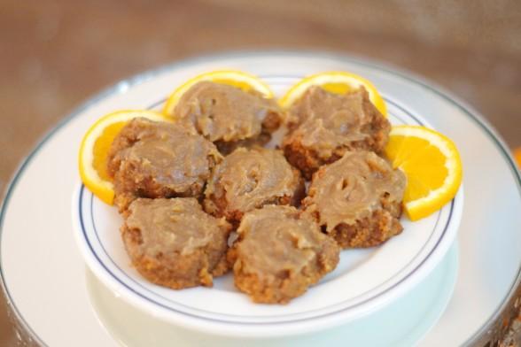 Pumpkin Cookies with Vanilla Cardamom Frosting