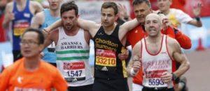 Struggling marathon runner