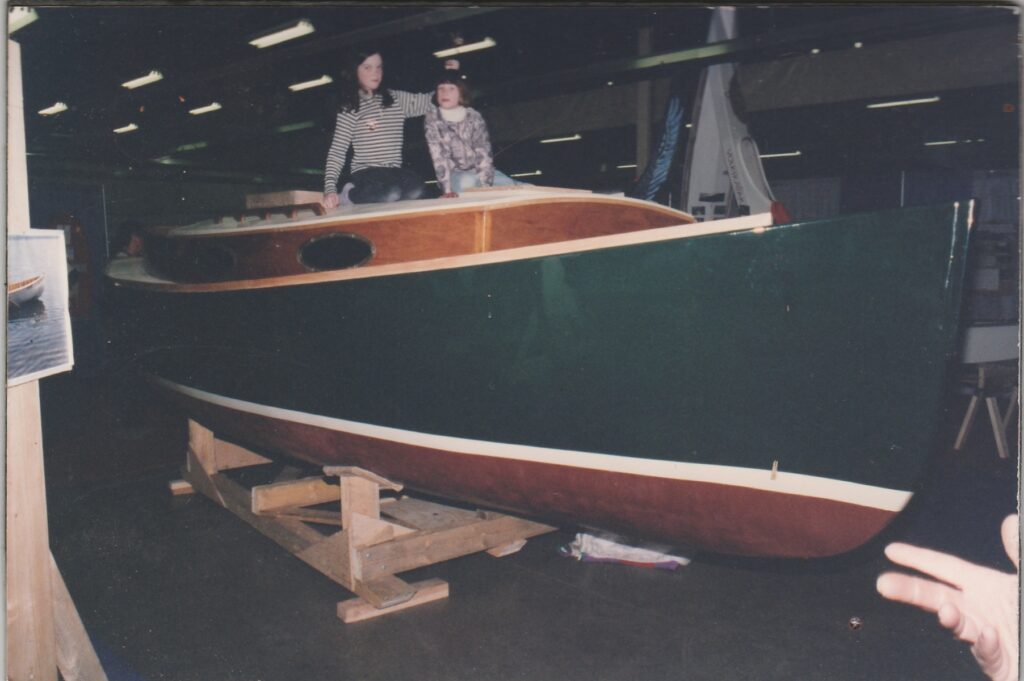 Wittholz 20 Catboat on display at the Halifax Boat Show