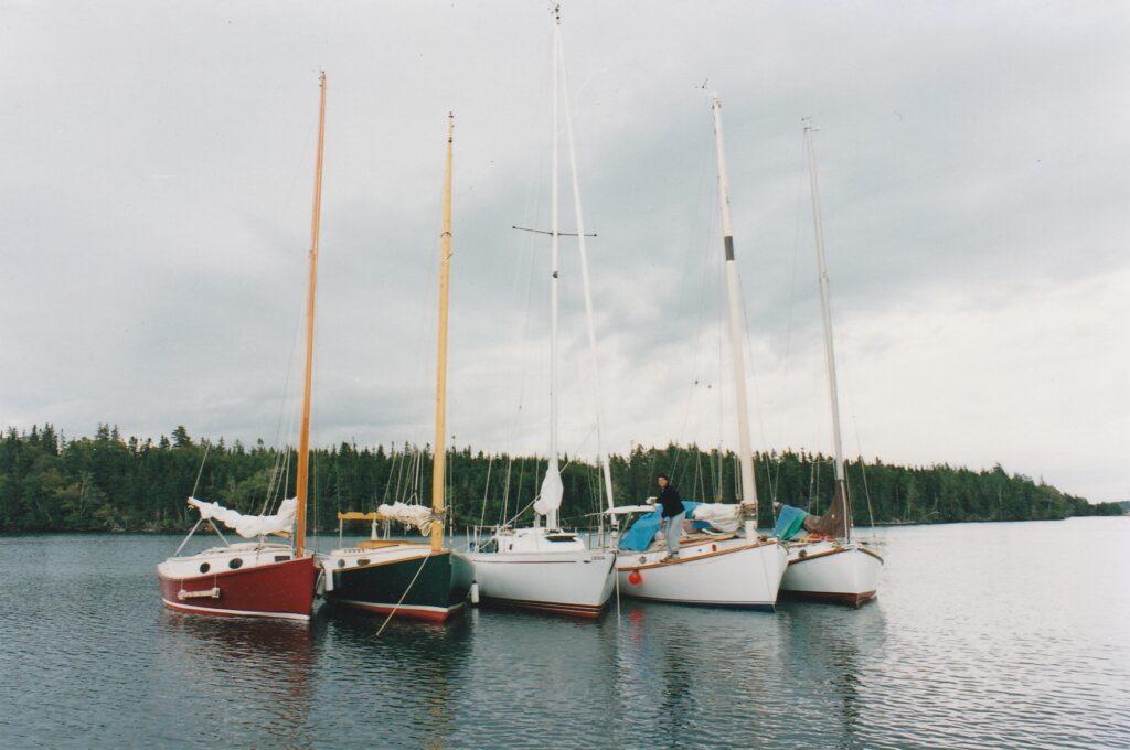 Flotilla sailing Cape Breton Island
