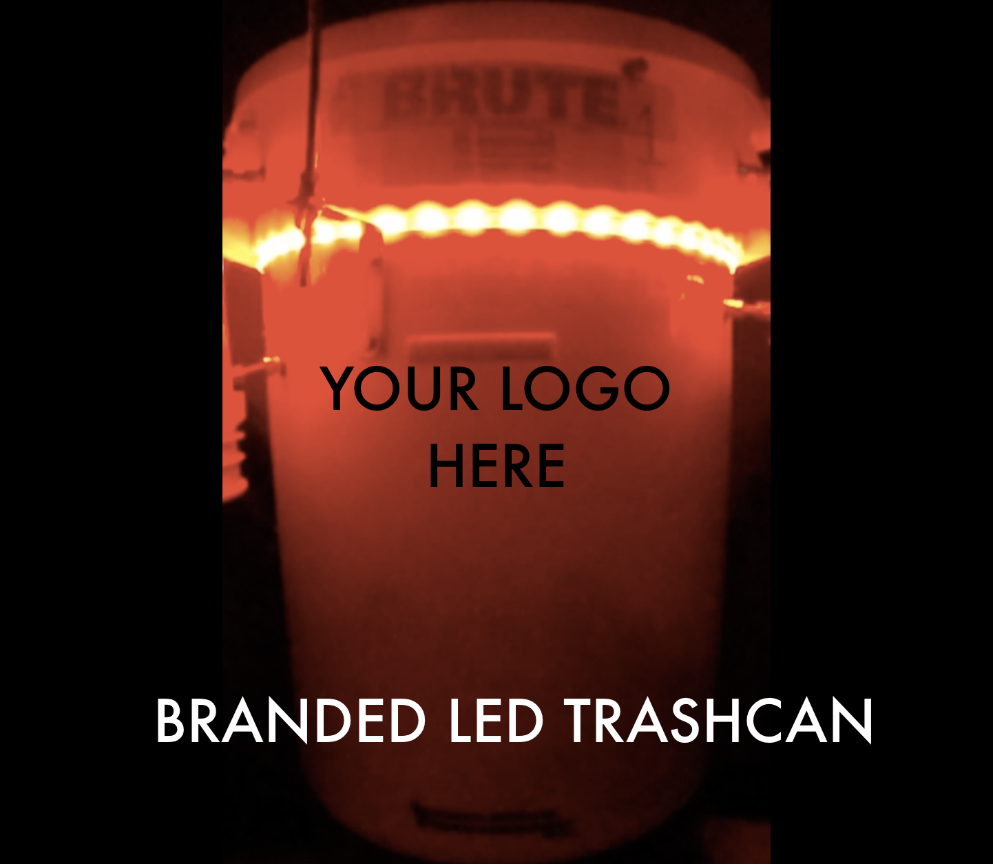 LED TCP Branded Trashcan