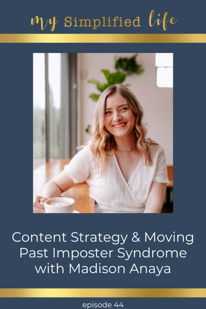 content strategy imposter syndrome madison anaya
