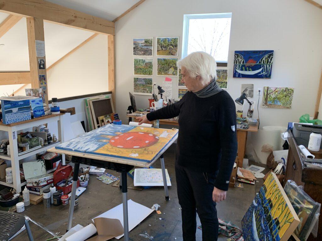Anna Dibble in her studio
