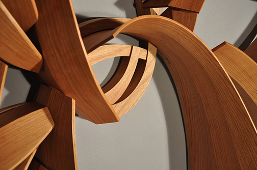 Wood sculpture by Leah Woods Detail
