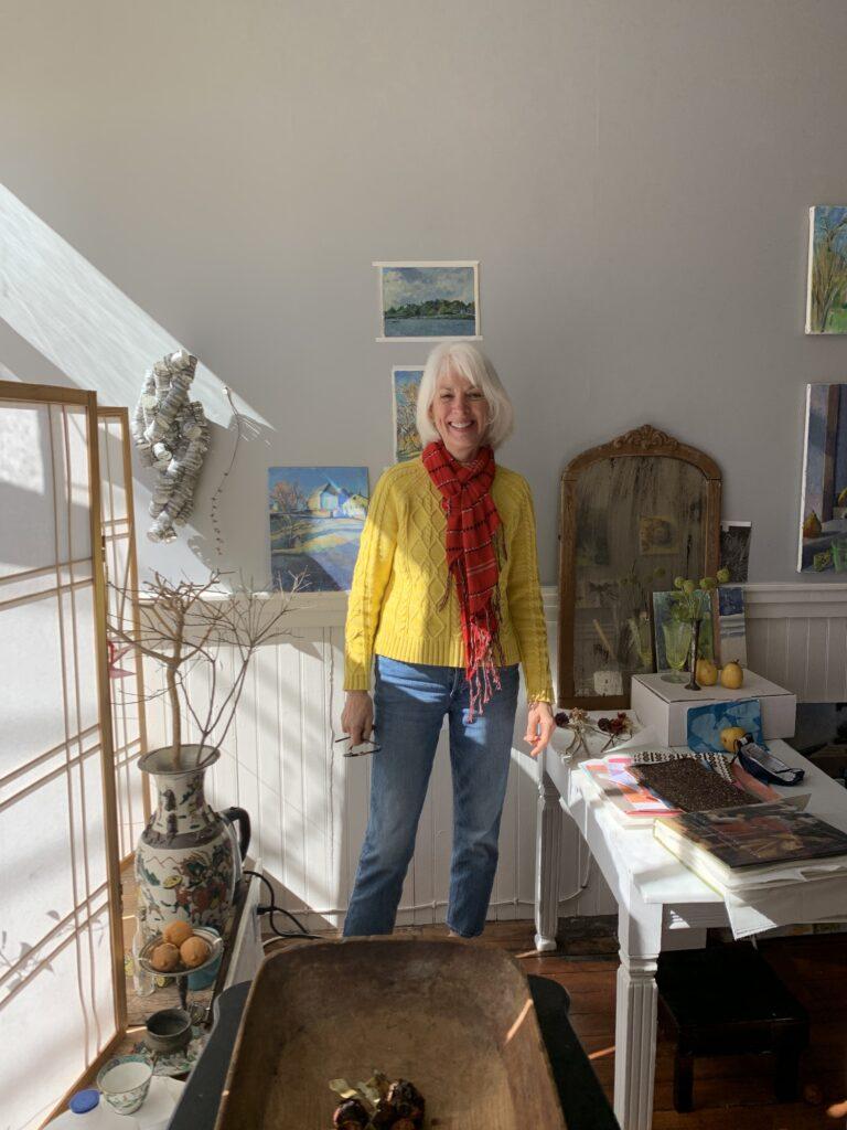 Robin Cody in her studio