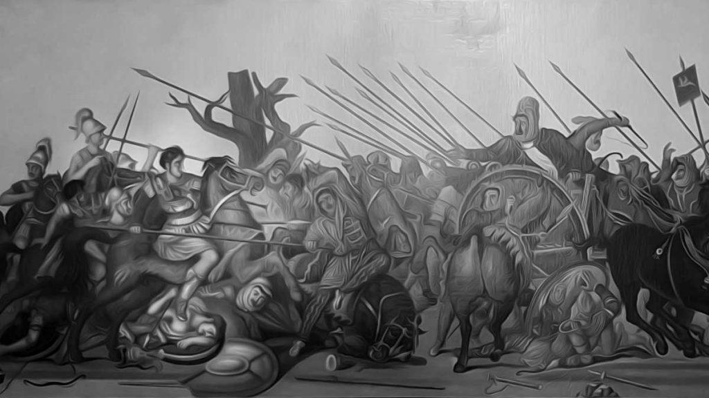 Alexander the Great and Darius III.