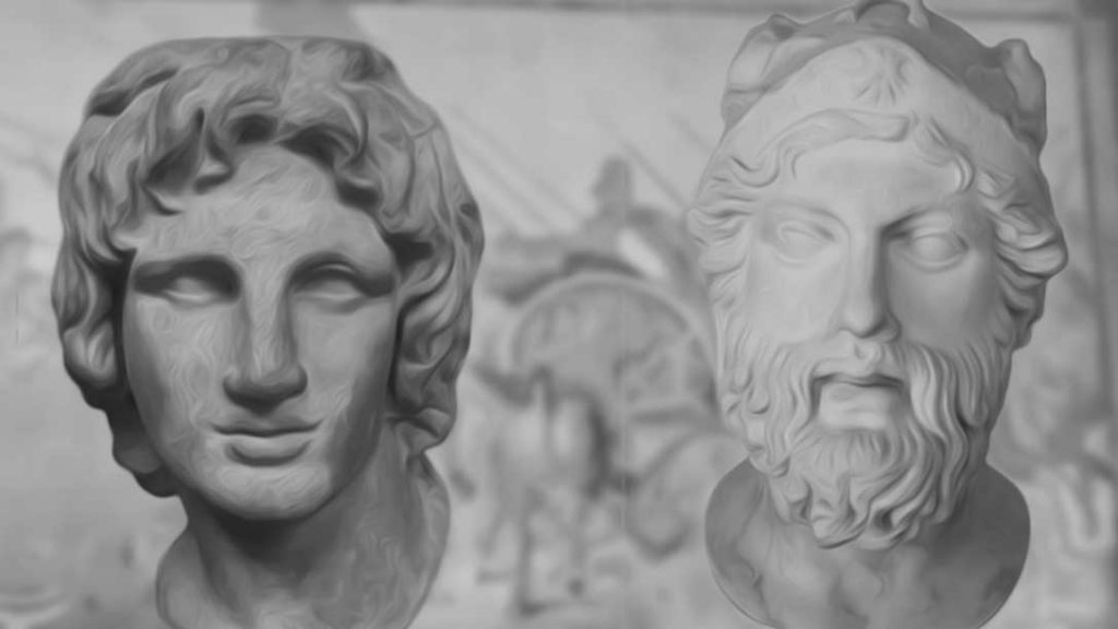 Alexander the Great and Parmenion