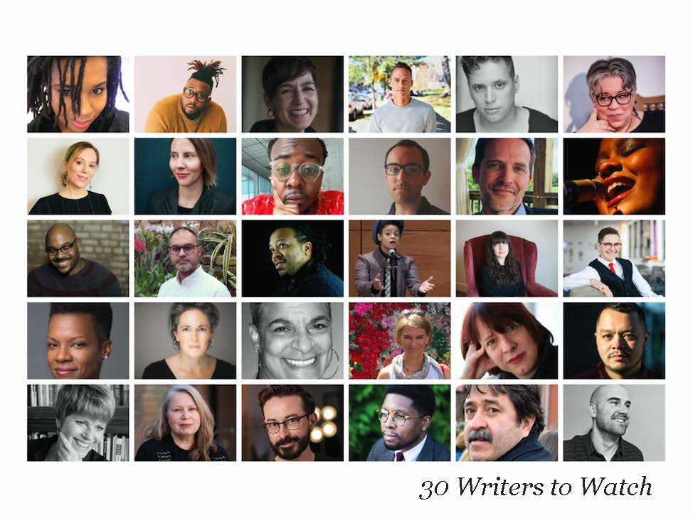 Collage of the authors in the 30 Writers to Watch