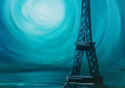 Eiffel Tower - Turquoise Painting