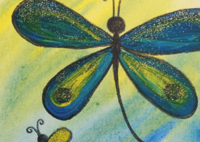 Watercolour Dragonfly Painting