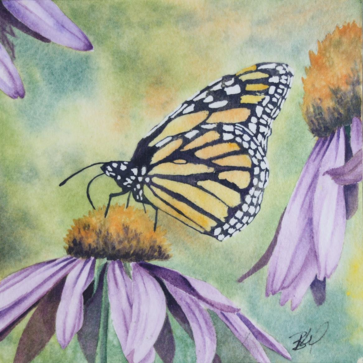 BrendaMorrisFlowerButterfly