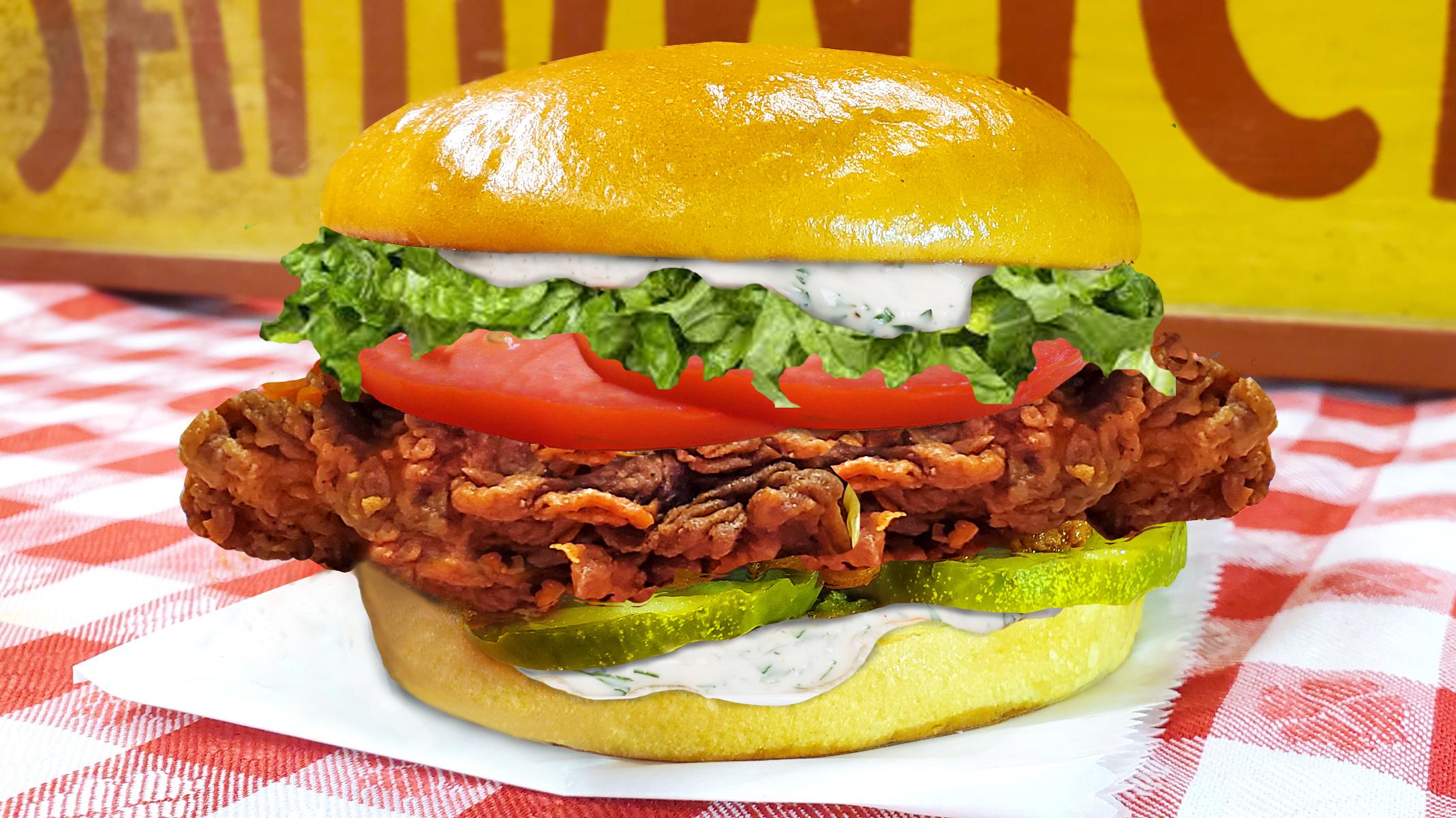 CrispyButterMilkChickenRanchDressingSandwich