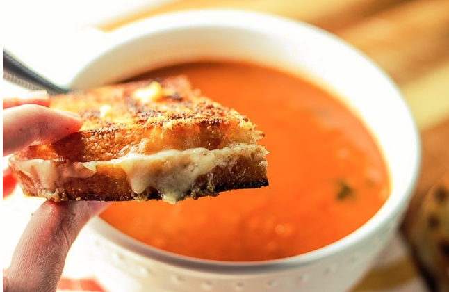 Far Land Provisions Grilled Cheese and Tomato Basil Bisque