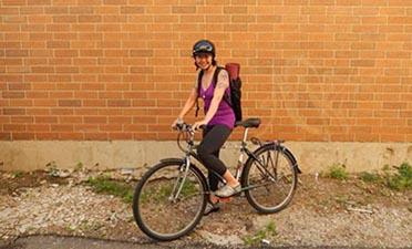 Mia and bike slide show