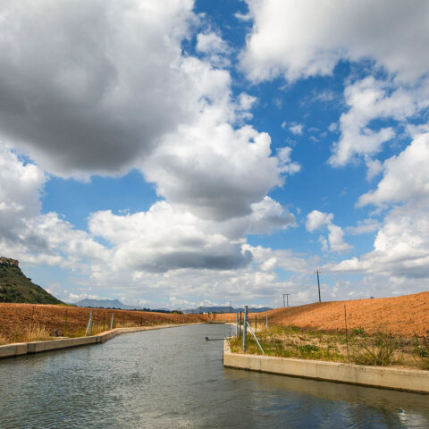 Intake canal at Middle Kruisvallei