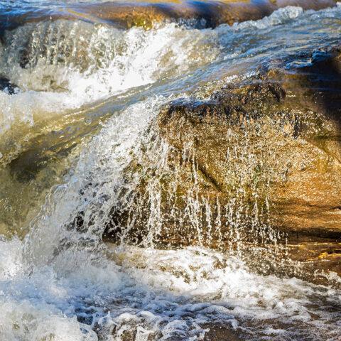 Water over rocks 1