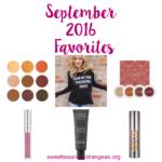 September 2016 Favorites