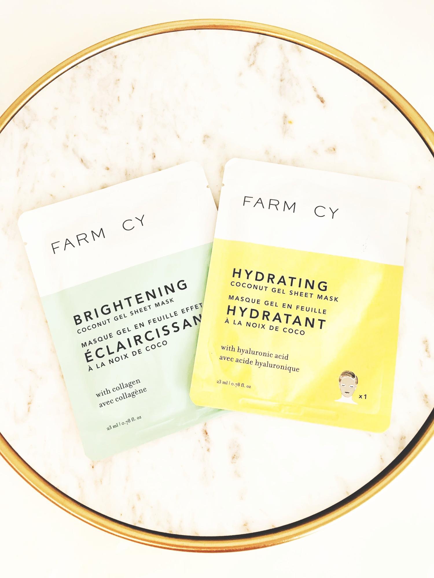 Farmacy Brightening and Hydrating Coconut Gel Masks