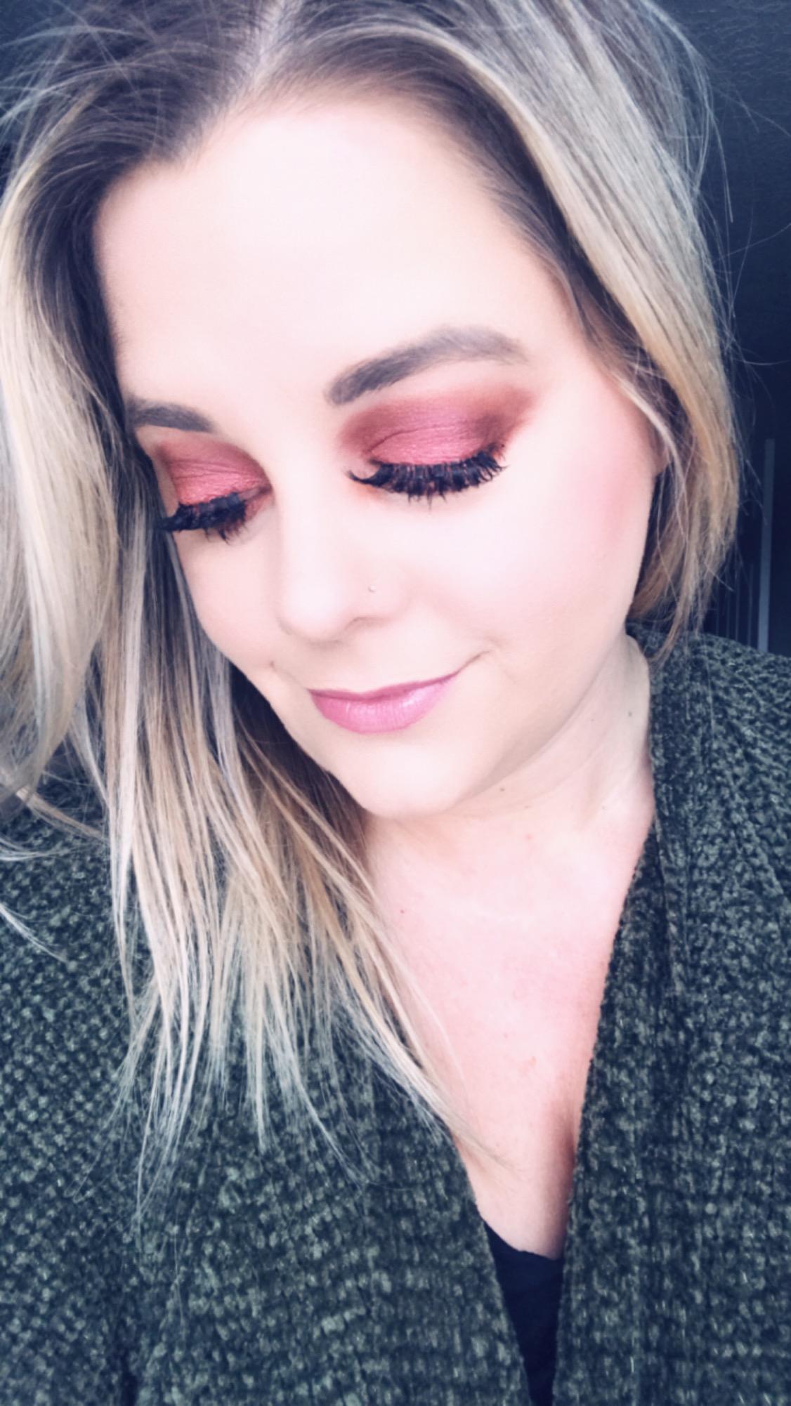 Sweet Tea & Hydrangeas Cranberry Makeup Look