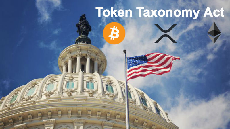 """Proposed US Law """"Token Taxonomy Act"""" To Bring Regulatory Clarity To Crypto Market"""