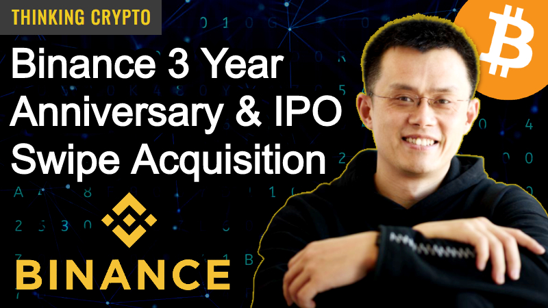 CZ Binance CEO Interview – Binance 3 Year Anniversary, IPO, Card, Mining Pool & Swipe Acquisition