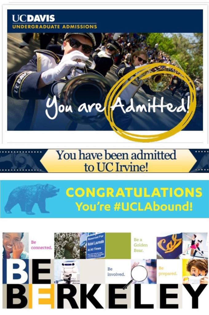 UC College admissions