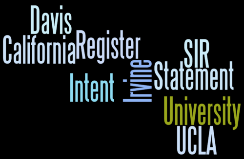 UC SIR Statement Of Intent To Regsiter