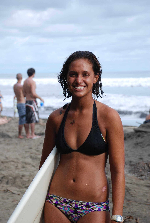 costa rica female surfer dominical