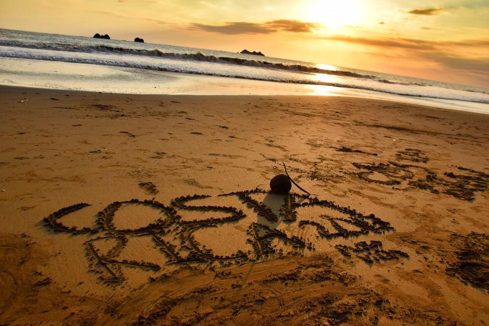 costa rica beach sunset pura vida