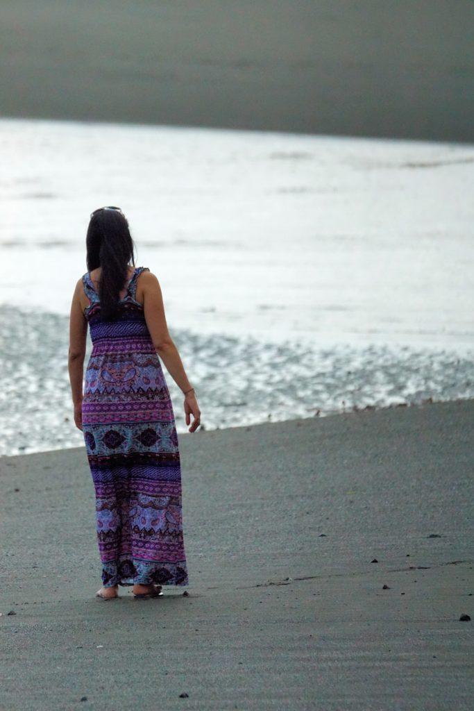 costa rica woman on beach