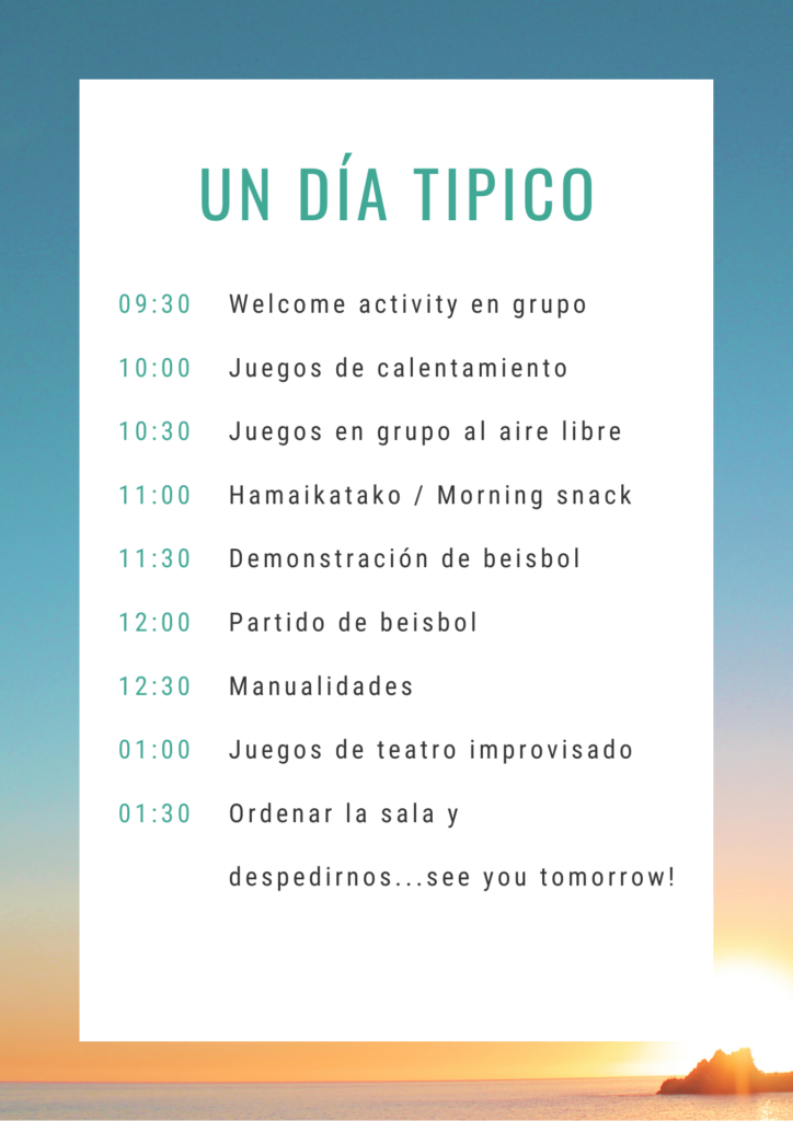 horario de intensivos de English Alive