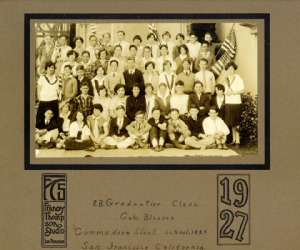 Commodore Sloat graduating class, 1927  Francy Thompson Studio