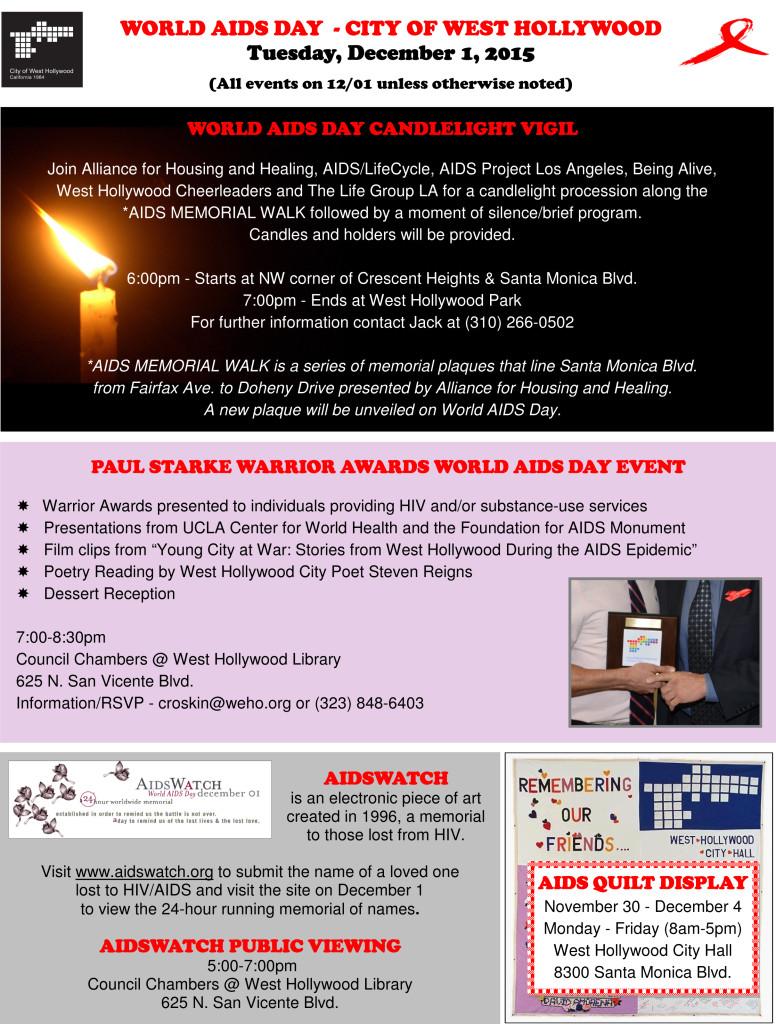 World AIDS Day Flyer - 2015