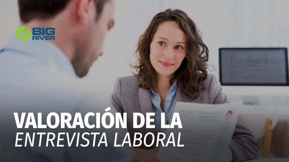 VALORACIÓN DE LA ENTREVISTA LABORAL