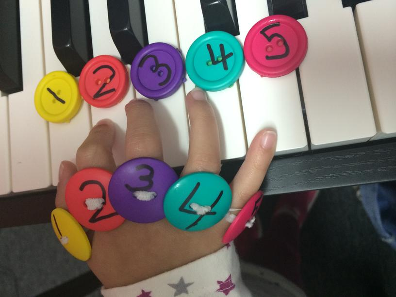 Paloma Piano - Button Fingering Worksheets - Image 1
