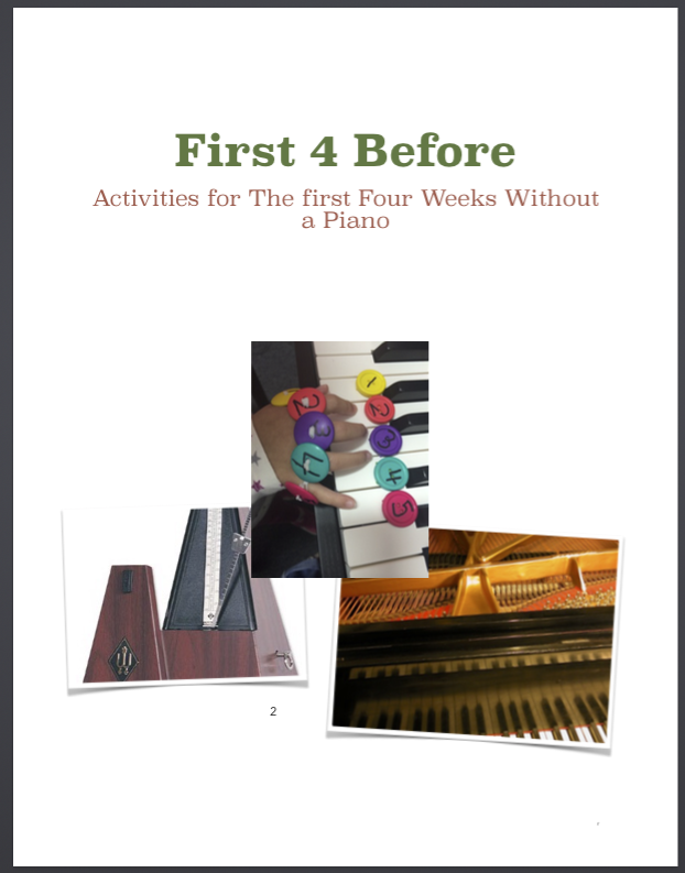 Paloma Piano - 1st 4 Before - Week 1 - Front Page