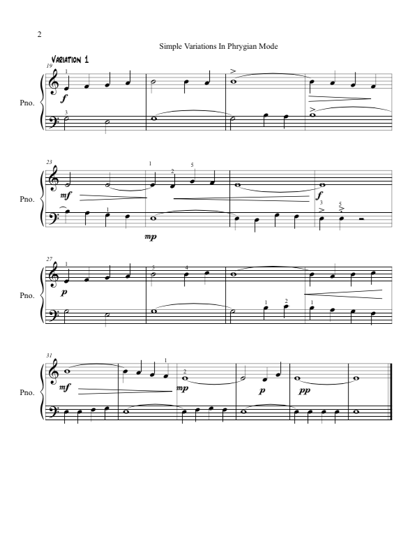 Paloma Piano - Simple Variations in Phrygian Mode - Page2