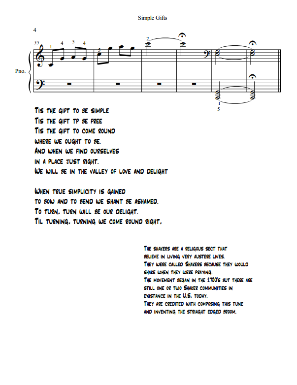Paloma Piano - Simple Gifts - Page 4
