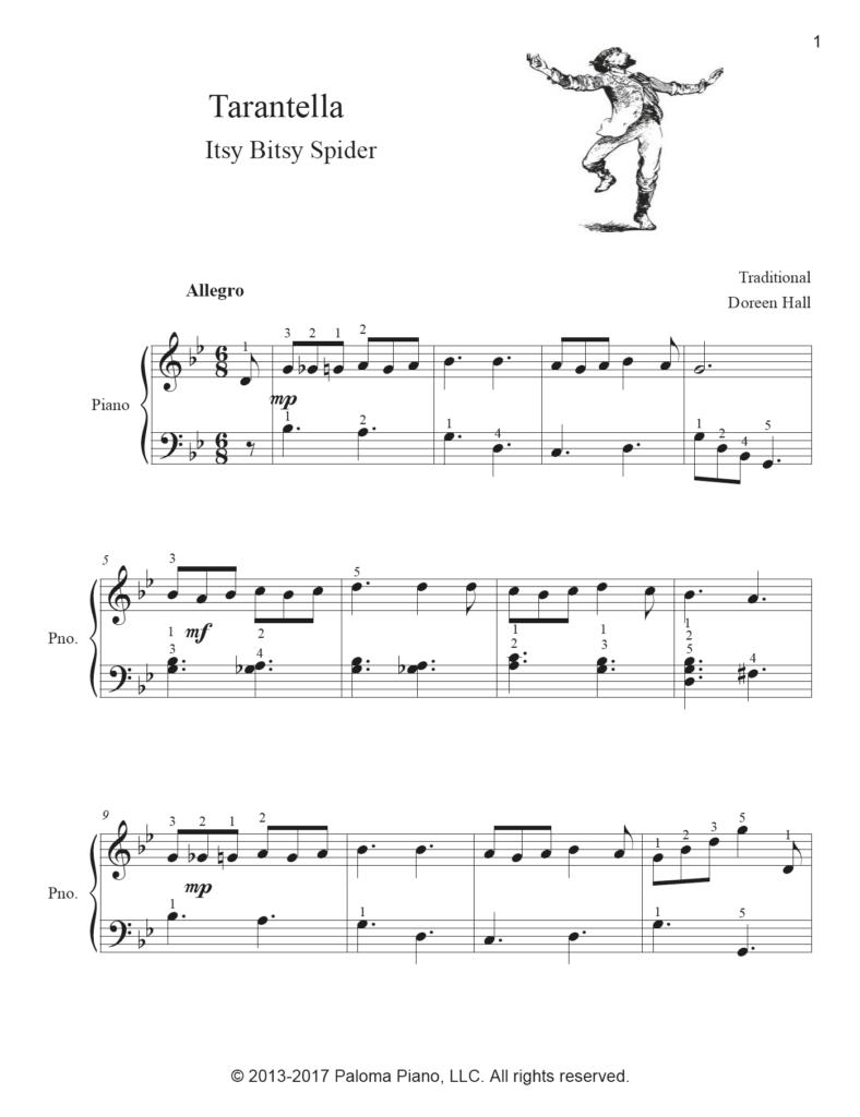 Paloma Piano - Tarantella Page1