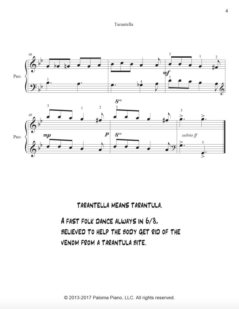 Paloma Piano - Tarantella Page 4