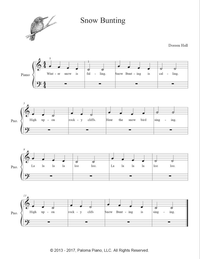 Paloma Piano - Snow Bunting - Page 1